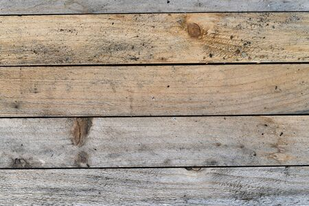 Old vintage planks of wood, board texture. 写真素材