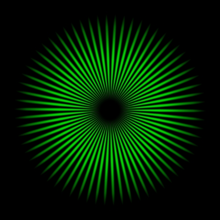 Green oscillator texture with black background