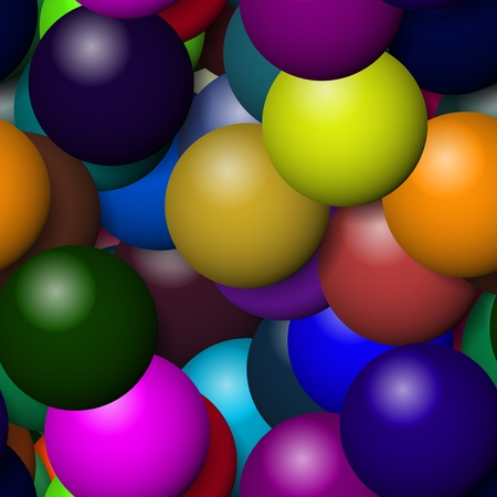 Big balloons of seamless texture with more colors