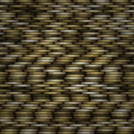White coins seamless texture with many coins Reklamní fotografie