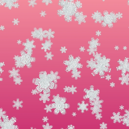 Seamless texture snowflake on red background, big snowflake texture Stock Photo