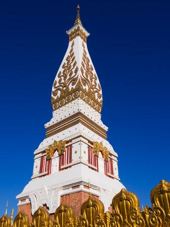 asian art: Phra That Phanom, Nakhon Phanom, Thailand, asia ,temple, thai , travel, blue , art , asian