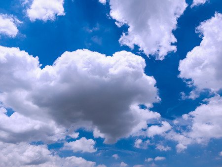 big white cloud on clear blue sky background