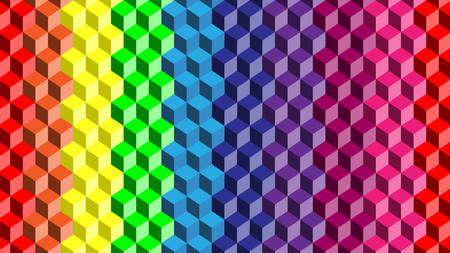 vector of rainbow cube background