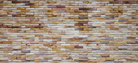 modern rough brick wall panoramic background texture Reklamní fotografie
