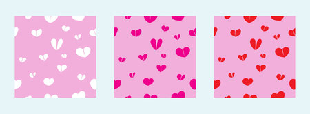set of seamless vector with heart shape Ilustrace