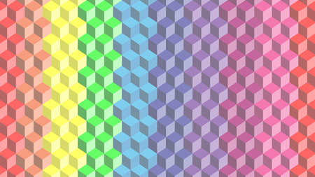 vector of pastel rainbow cube background Ilustrace