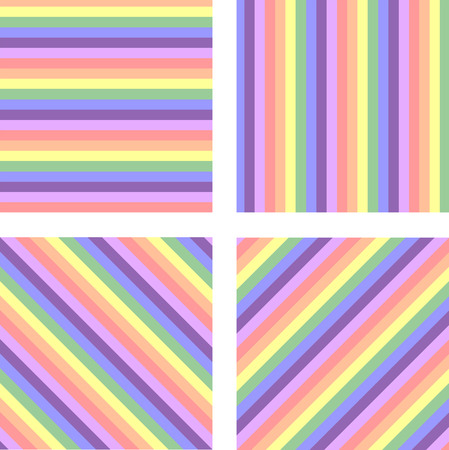 set of beautiful pastel rainbow background Ilustrace