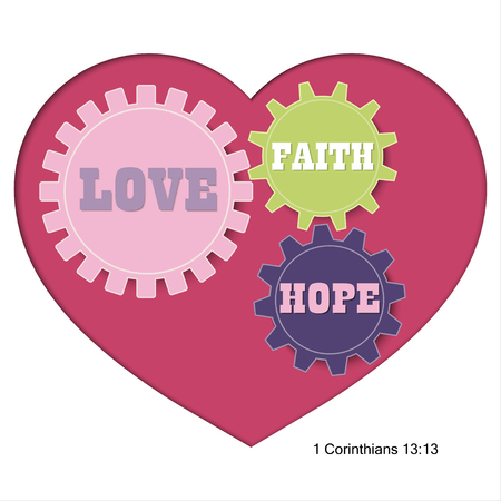 vector graphic design of christian bible verse