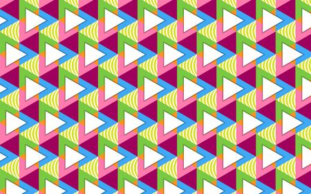 abstract colorful shape with geometric pattern