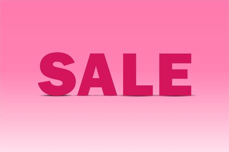 vector of sale banner, sign pink background