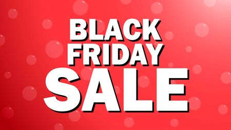 vector of sale banner, black friday on red background with bubble