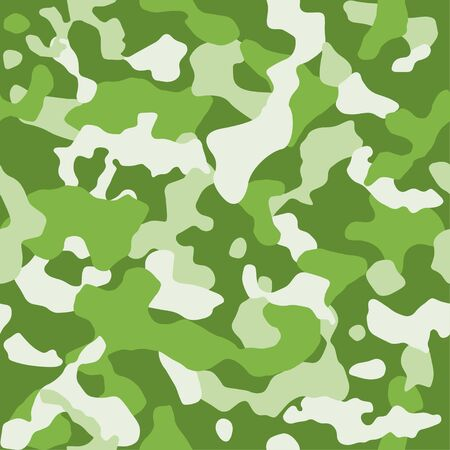 seamless vector of camouflage, wallpaper design, shades of green colors Ilustrace
