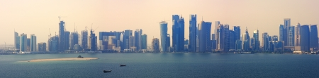 skyline of the new doha business district quatar photo