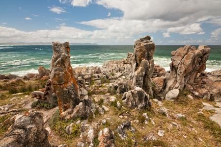 unique rocky outcrop along the ocean shoreline