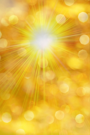 golden background with yellow light and starburst