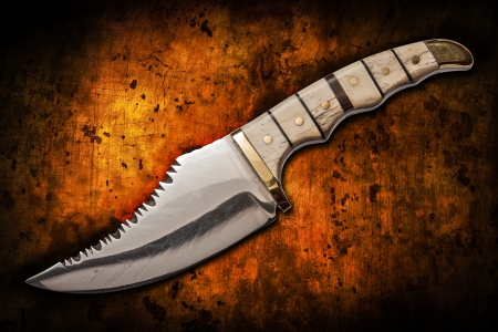 hand crafted hunting knife used to skin an animal