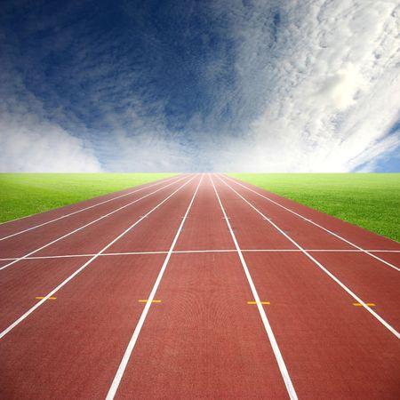 Es una pista de carreras, para corredores  Foto de archivo - 2847431