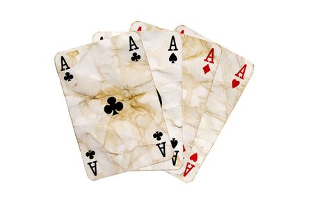 isolated Aces Stock Photo