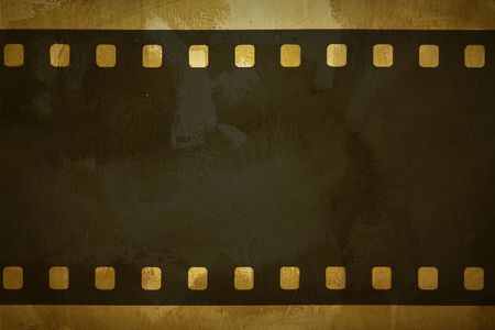 photographic film on the grung background