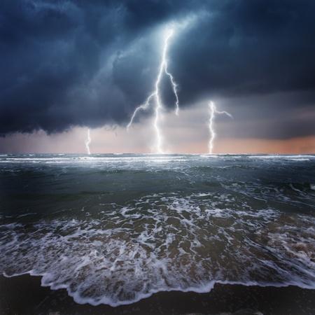 Thunder on the ocean Stock Photo - 9098158
