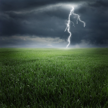 Storm on the field II photo