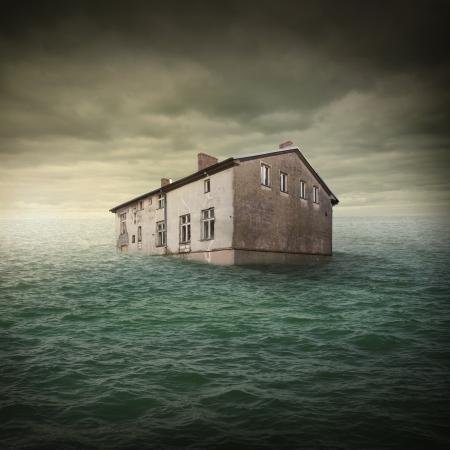 katastrophe: Hochwasser Lizenzfreie Bilder