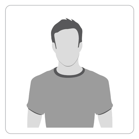 male face profile: Profile icon illustration