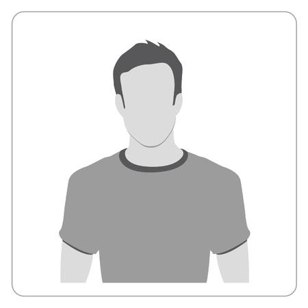 face silhouette: Profile icon illustration