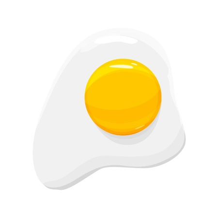 fryer: Fried Egg Icon illustration Illustration