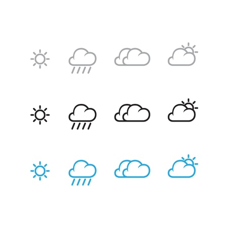 day forecast: Weather Icon Set