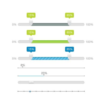 slider: Sliders Scroll bars Set Illustration