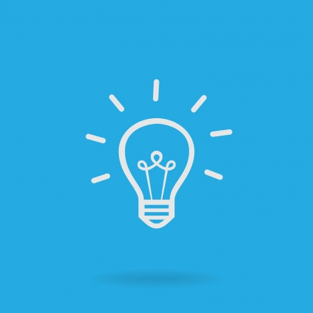 idea light bulb: Light bulb icon