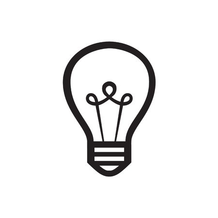bombillo: Icono de la bombilla Vectores