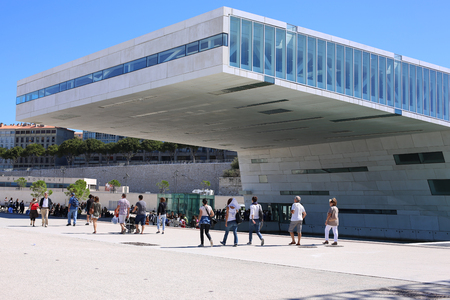 Modern Architecture of Museum in Marseille France