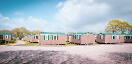 Camping economic mobile home park Stockfoto