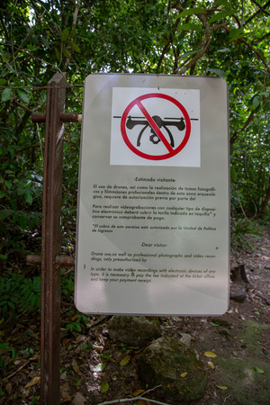No drones zone sign