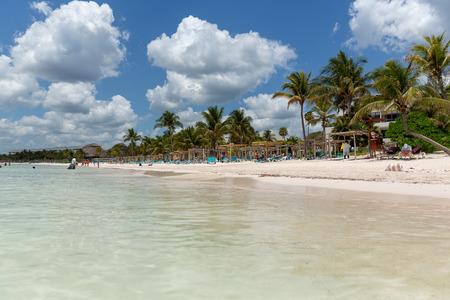 Akumal beach paradise in caribbean coast of mexico quintana roo