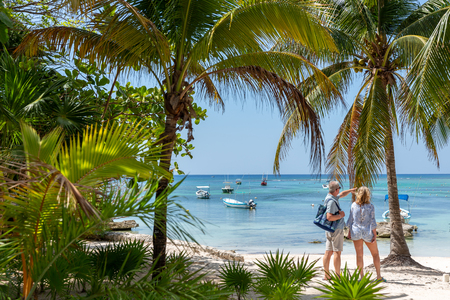 Akumal beach, paradise in the caribbean coast of mexico, Yucatan