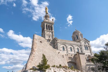 Historic Basilica Notre Dame Of The Guard Of Marseille In France - Famous travel landmarks