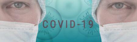 Corona Virus banner illustration - Microbiology And Virology Concept