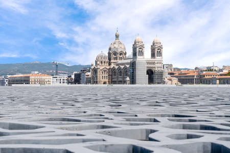 Cathedral of the Major Marseille, France Stock Photo