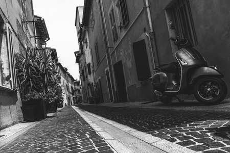 Little paved street in village of Cassis, 13 Bouches du Rhône, PACA, South, France Editorial