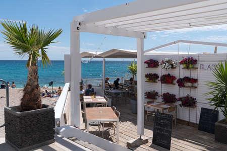 Famous beach of Cassis, 13 Bouches du Rhône, PACA, South, France Editorial