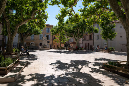 Small place in village of Cassis, 13 Bouches du Rhône, PACA, South, France