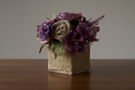 arrangment: artificial flower arrangment Stock Photo