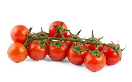 緑の枝に 9 の赤チェリー トマト 写真素材