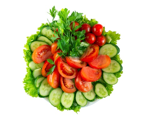 皿にスライス、新鮮な野菜