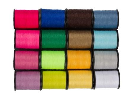 縫製や刺繍色とりどりのスレッドとコイル 写真素材