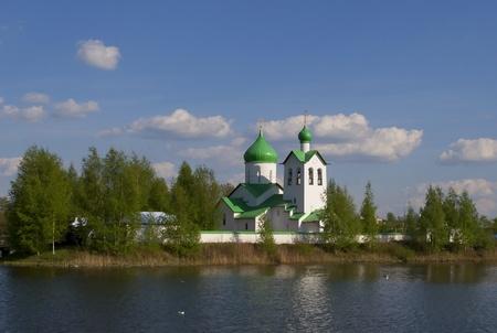 教会の聖セルギウス ラドネジのサンクトペテルブルクのジョージ Pobedonstsa。 写真素材